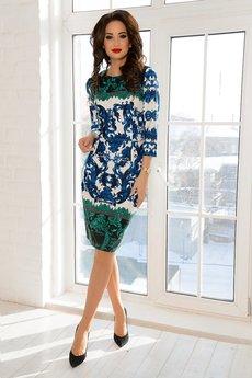 Трикотажное платье с орнаментом Open-Style